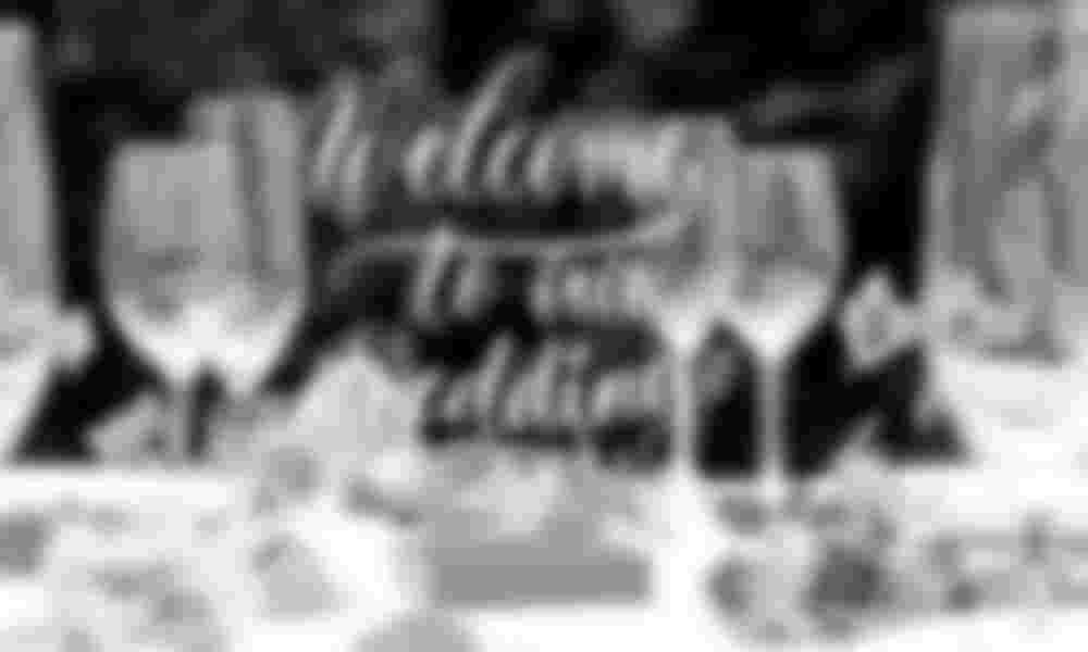 Aufsteller für den Tisch für die Hochzeit