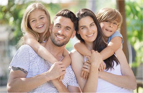 Portraitidee für ein Familienfoto